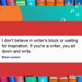 Writer's Block?  How to Kick that Boogey Man to the Curb
