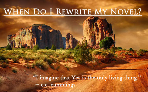 Meredith and Win Blevins talk to writers about rewriting their novel.  When to rewrite, how to rewrite, and how to handle changes in the book manuscript.